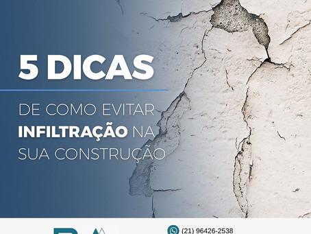 EVITE INFILTRAÇÕES DA CONSTRUÇÃO