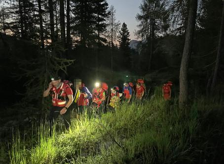 🚨09.08.2020: Bergwacht rettet verstiegenen und erschöpften Wanderer von der Reiter Alpe