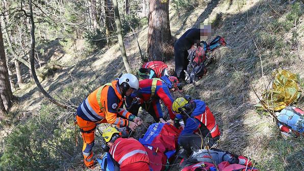 🚨15.03.2020: 59-Jährige verletzt sich beim Wandern im Lattengebirge schwer am Knie