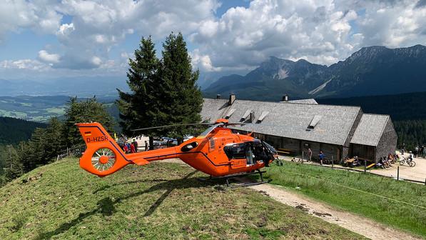 🚨19.07.2020: Schwer verletzter Radler & akut intern Erkrankter am Teisenberg