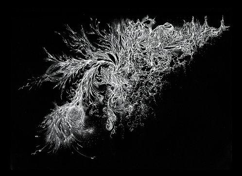 Galáxia - sublimação sobremusseline - 140x100cm - 2017