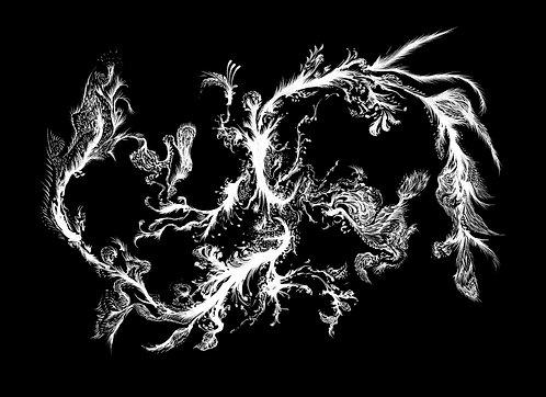 Dragão - sublimação sobremusseline - 140x100cm - 2017