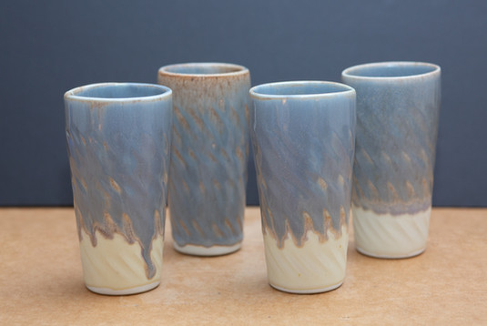Striated Drinking Glasses