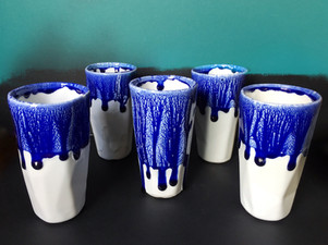 Blue Canopy Drinking Glasses