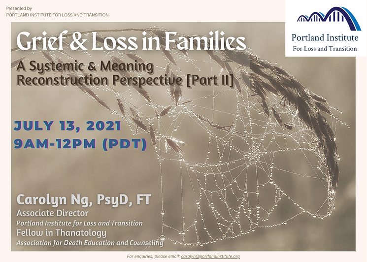 Grief & Loss in Families II - Publicity