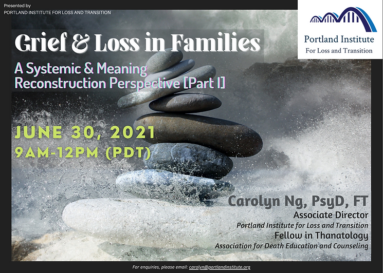 Grief & Loss in Families I - Publicity P