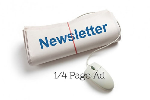 1/4 Page E-newsletter Ad