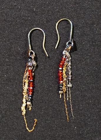 Silver & spinel light Eerrings