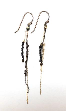 Silver & black spinel light Eerrings