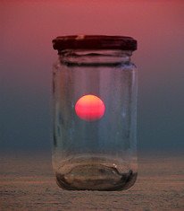 Sunset in a jar - שקיעה בצנצנת