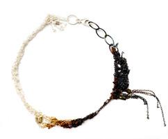 Silver & red spinel Bracelet