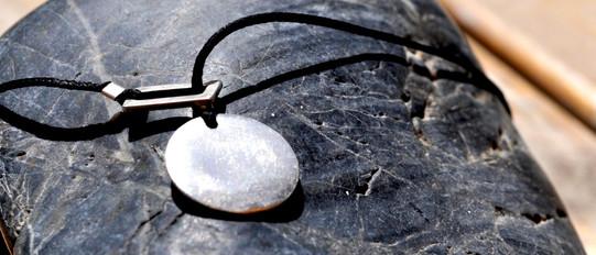 Silver & cotton Chain