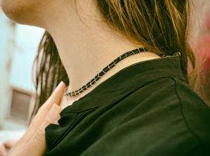 Silver & miyuki beads necklace
