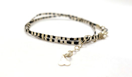 Silver double Bracelet