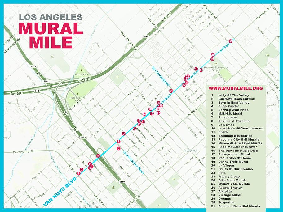 Arletacalifornia Map.Los Angeles Mural Mile Mural Maps And Everything Else