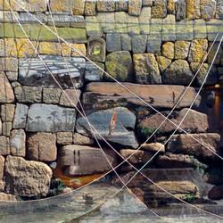 Windblown Egret 40x40cm