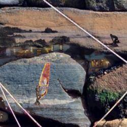 Windblown Egret 40x40 detail 1