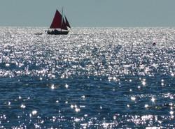 Sailing off Moor Sand