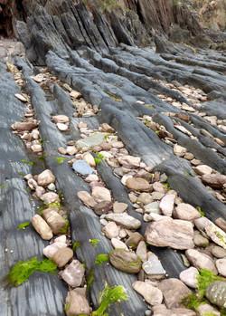 Sea worn rocks and pebbles