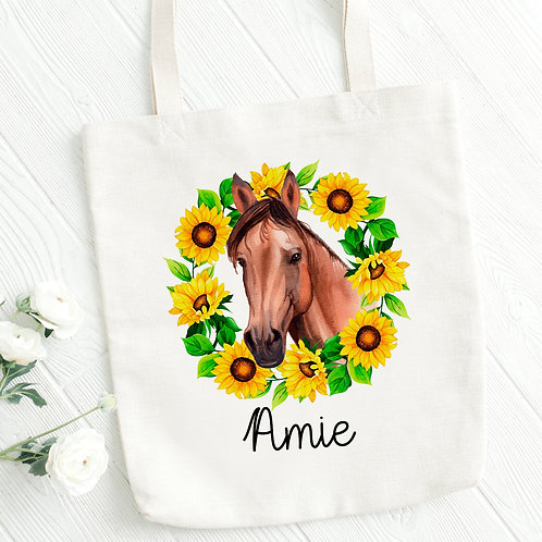 Personalised Horse Tote Bag