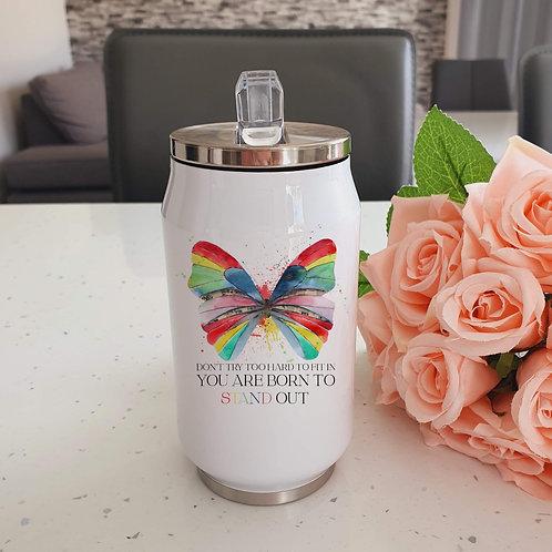 Rainbow Butterfly Water Bottle