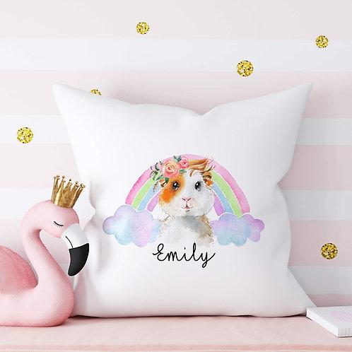 Pastel Rainbow Guinea Pig Cushion