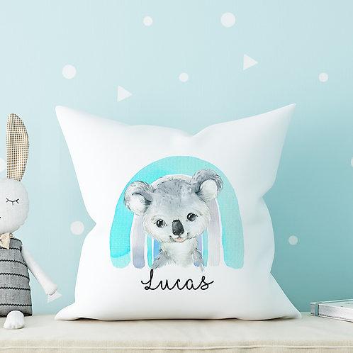 Blue Rainbow Koala Cushion