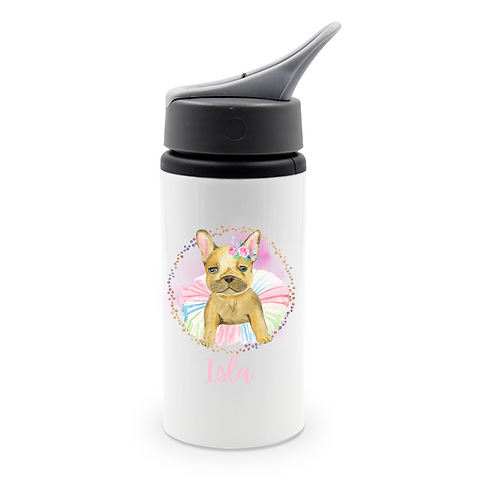 Personalised French Bulldog Water Bottle