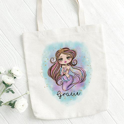 Personalised Mermaid Tote Bag