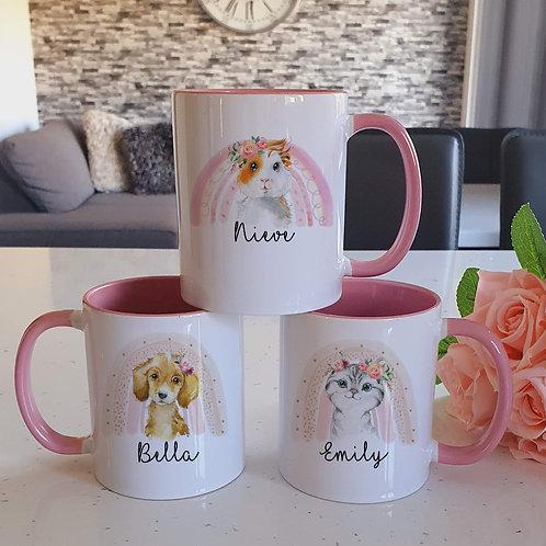Rainbow Guinea Pig, Puppy Or Kitten Mug
