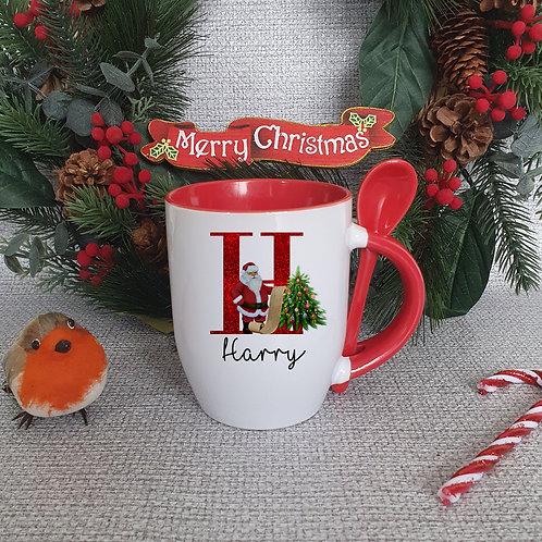 Personalised Santa Mug With Spoon