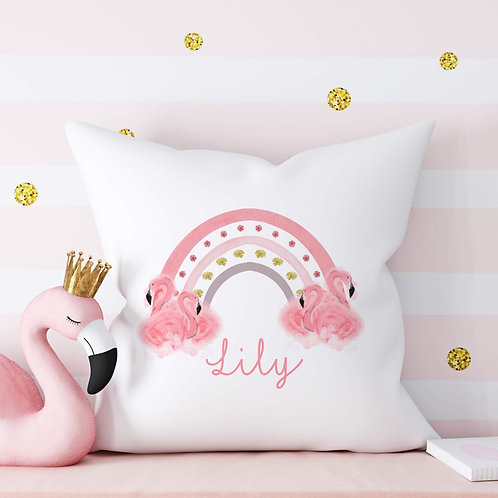 Personalised Flamingo Cushion