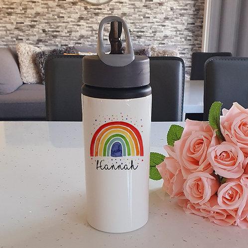 Personalised Rainbow Water Bottle