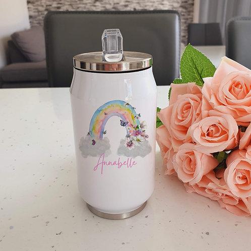 Persona;ised Rainbow Water Bottle