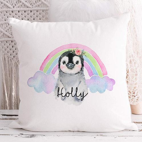 Personalised Penguin Cushion