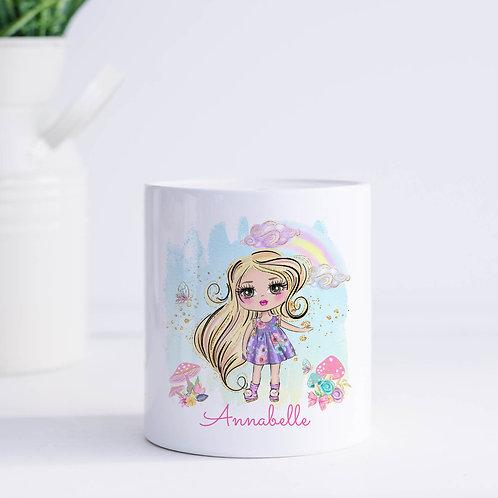 Personalised Summer Girl Money Box