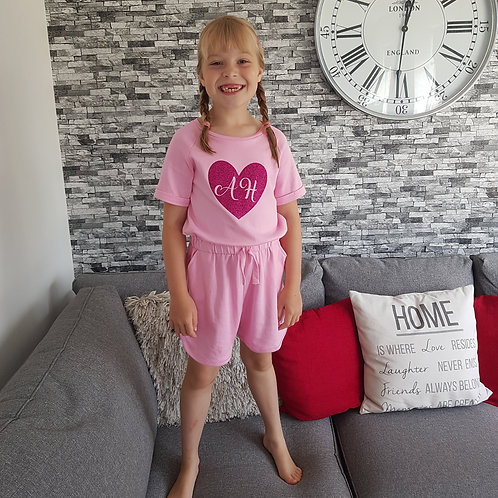 Age 4-5 Personalised Pink Playsuit
