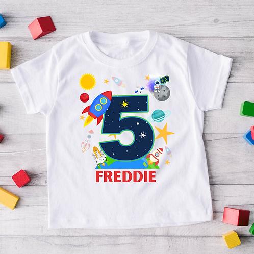 Space Birthday T-Shirt