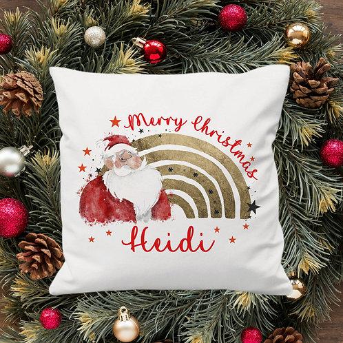 Personalised Christmas Santa Cushion