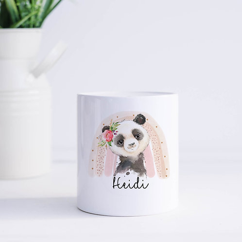 Personalised Panda Piggy Bank