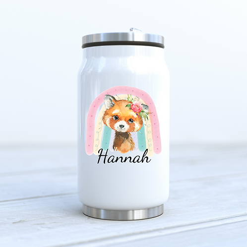 Personalised Red Panda Cola Can Drinks Bottle