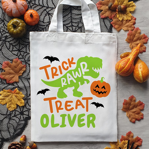 Halloween Dinosaur Trick Or Treat Bag