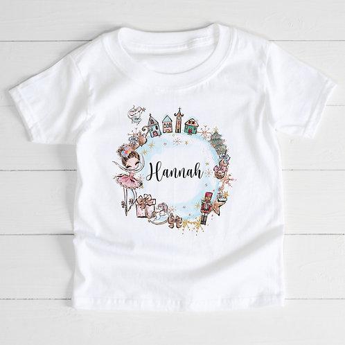 Personalised Christmas Girl T-Shirt
