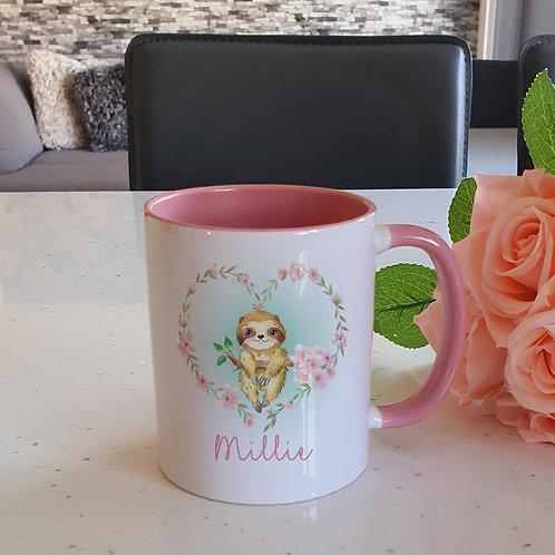 Personalised Sloth Mug