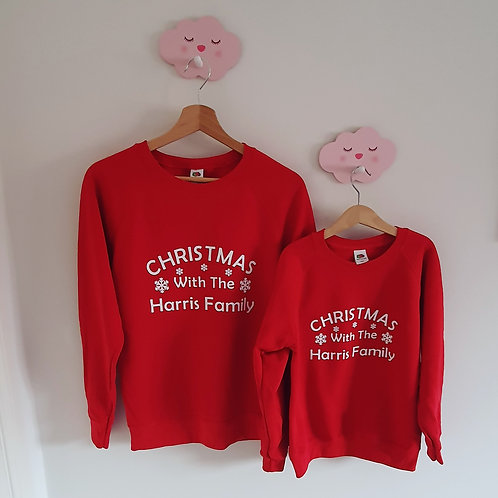 Family Matching Christmas Jumpers