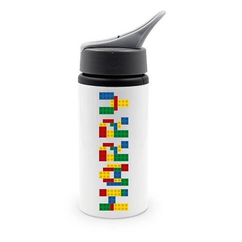Personalised Building Bricks Cola Can Drinks Bottle