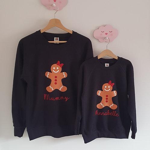 Personalised Gingerbread Christmas Jumpers