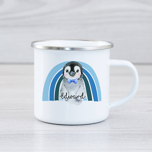 Penguin Enamel Mug