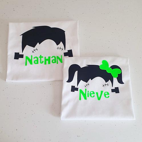 Personalised Frankenstein Halloween T-Shirts
