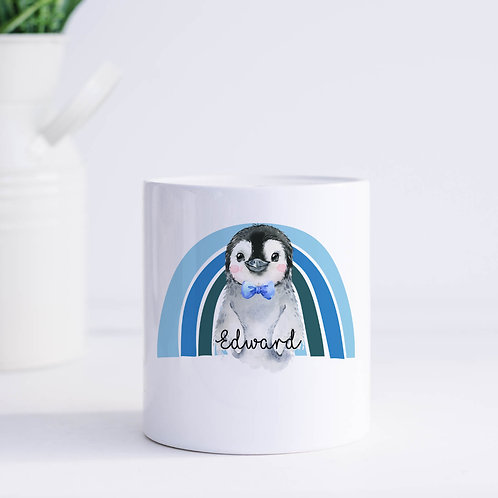 Personalised Penguin Piggy Bank